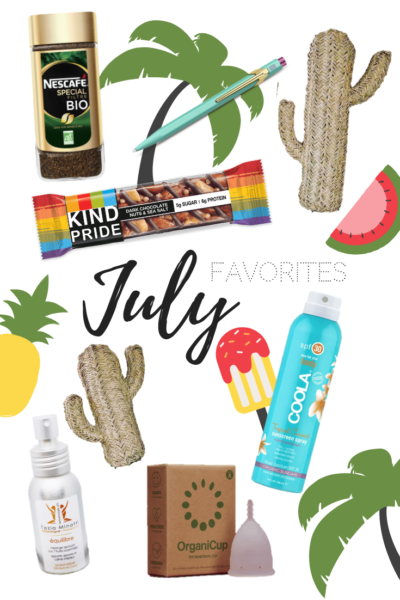 Mes favoris du mois de juillet